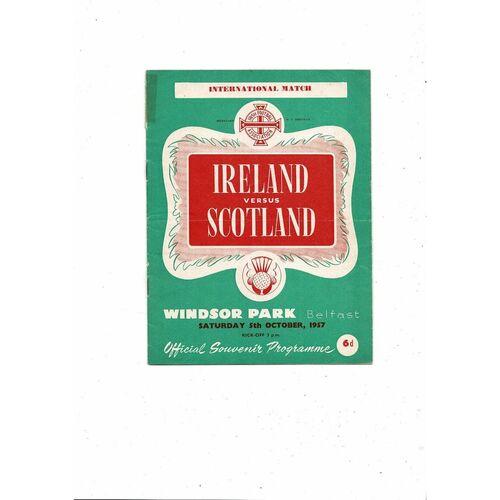 1957 Northern Ireland v Scotland Football Programme