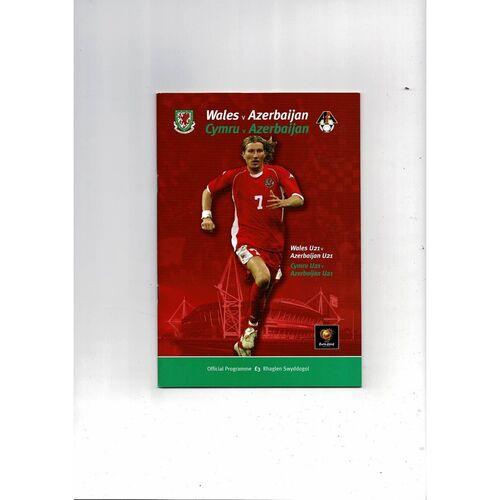 2003 Wales v Azerbaijan Football Programme