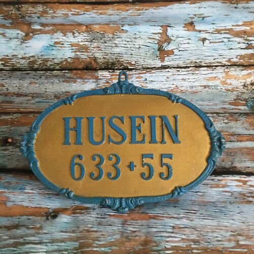 Vintage Husein French Horse Box Sign.
