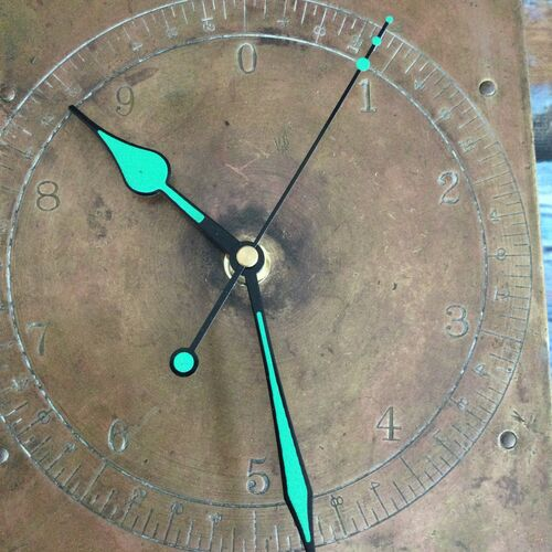 Upcycled Vintage Salter Copper Scales Clock.