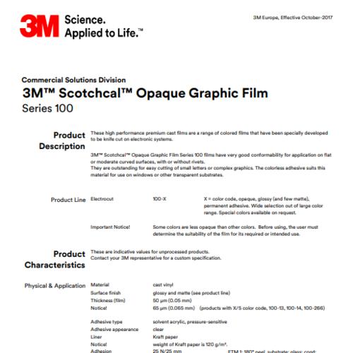 3M™ Scotchcal™ Graphic Film Series 100