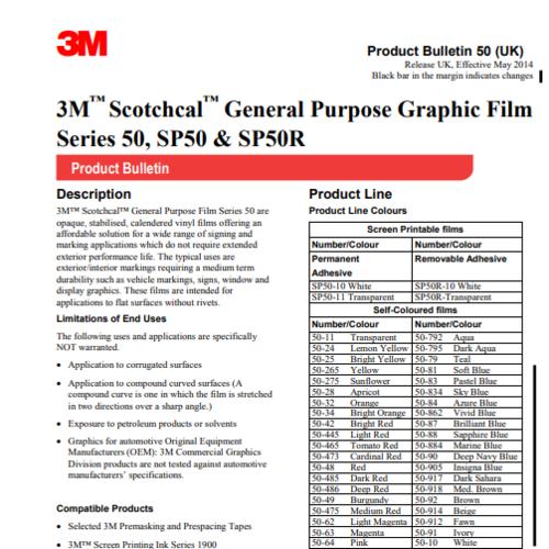 3M™ Scotchcal™ Graphic Film Series 50