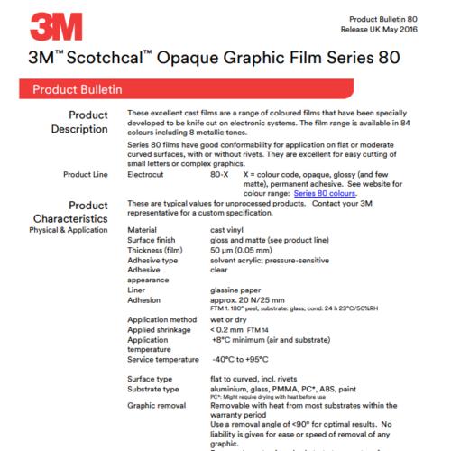 3M™ Scotchcal™ Graphic Film Series 80