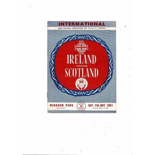1961 Northern Ireland v Scotland Football Programme