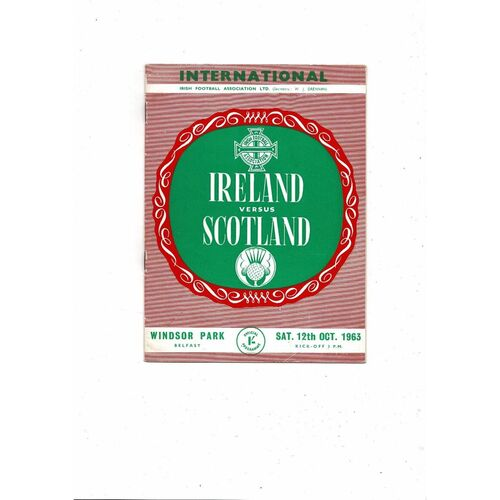 1963 Northern Ireland v Scotland Football Programme