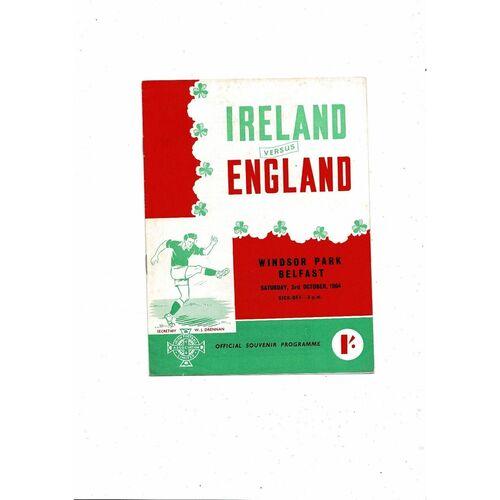 1964 Northern Ireland v England Football Programme