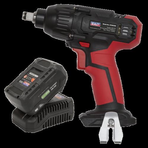 "Impact Wrench Kit 1/2"" Sq Drive 230Nm 20V 4Ah - Sealey - CP20VIWKIT1"