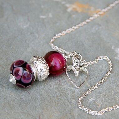 Cranberry Trio Necklace