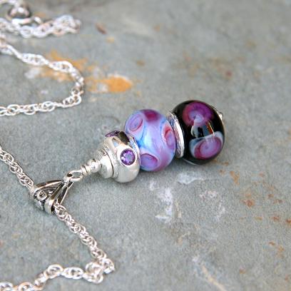 Violet Trio Necklace