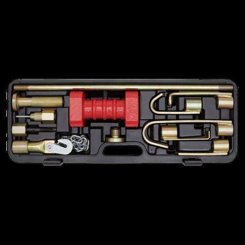 Slide Hammer Set 10pc Heavy-Duty - Sealey - DP90