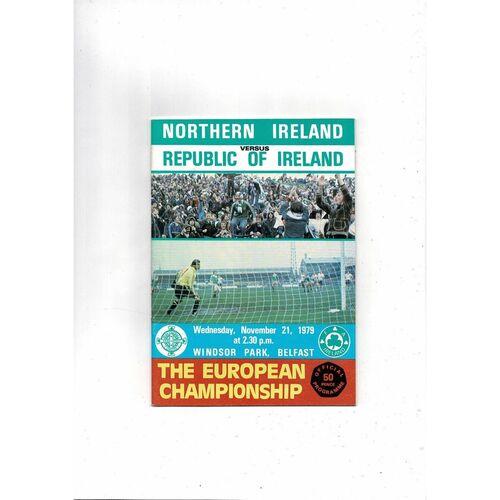 1979 Northern Ireland v Republic of Ireland Football Programme