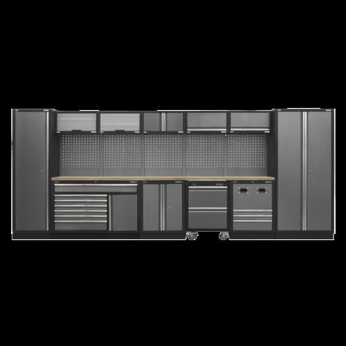 Modular Storage System Combo - Pressed Wood Worktop - Sealey - APMSSTACK16W