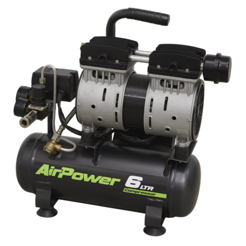 Silent Compressor 6L Direct Drive 0.7hp - Sealey - SAC0607S