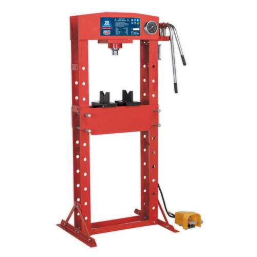 Air/Hydraulic Press 30tonne Floor Type with Foot Pedal - Sealey - YK309FAH
