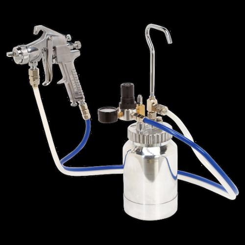 Pressure Pot System with Spray Gun & Hoses 1.8mm Set-Up - Sealey - SSG1P