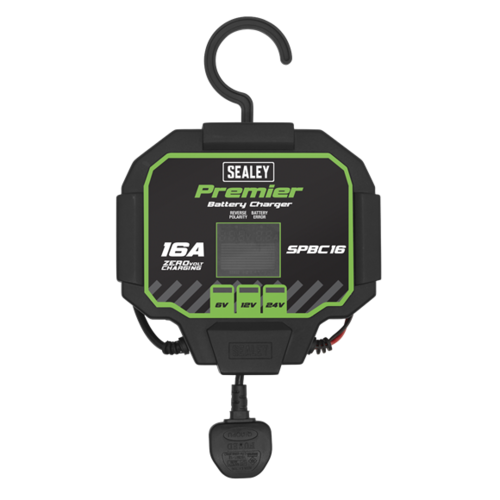 Battery Charger 16A Fully Automatic - SPBC16 - Sealey