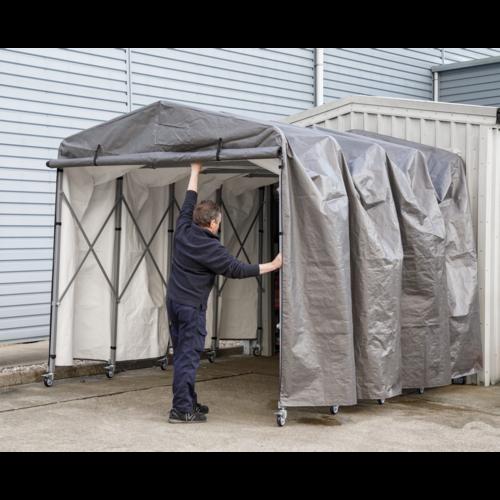 Foldable Garage Extension 2.5 x 4.5 x 2.5m - Sealey - FGE01