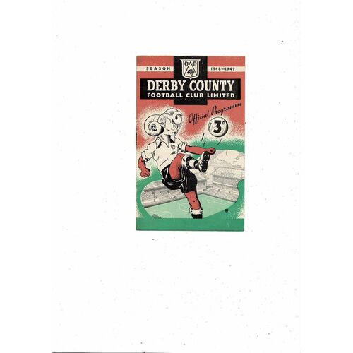 1948/49 Derby County v Manchester City Football Programme