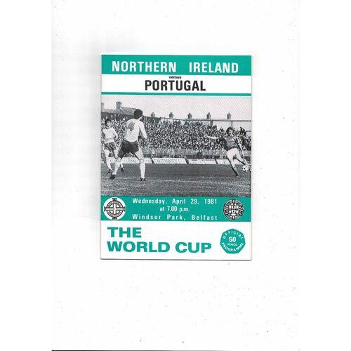 1981 Northern Ireland v Portugal Football Programme