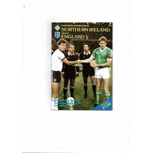 1987 Northern Ireland v England Football Programme