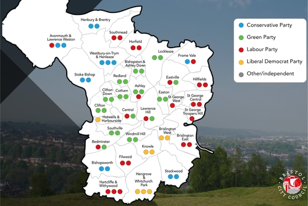 Green index correlates with local election voting