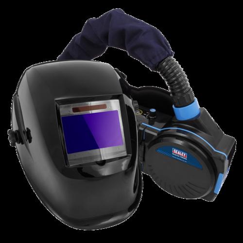 Welding Helmet with Powered Air Purifying Respirator (PAPR) Auto Darkening - Sealey - PWH616