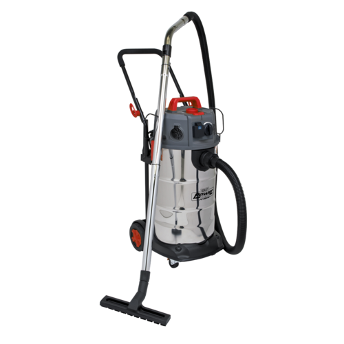 Vacuum Cleaner Industrial Dust-Free Wet/Dry 38L 1500W/230V Stainless Steel Drum M Class Filtration - Sealey - PC380M