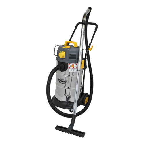 Vacuum Cleaner Industrial Dust-Free Wet/Dry 38L 1100W/110V Stainless Steel Drum M Class Filtration - Sealey - PC380M110V