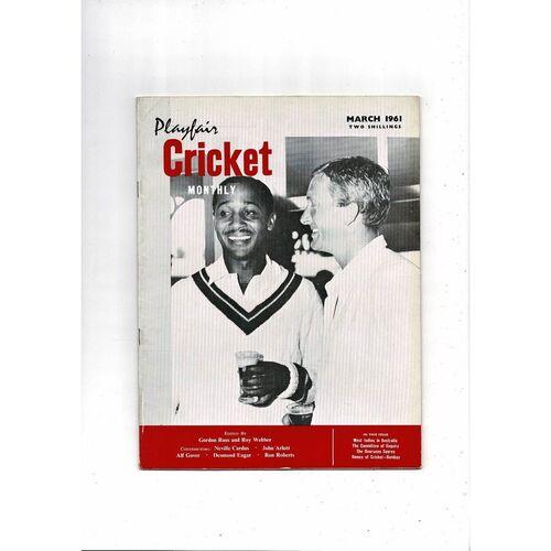 Playfair Cricket Monthly Magazine - March 1961