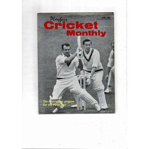 Playfair Cricket Monthly Magazine - June 1961