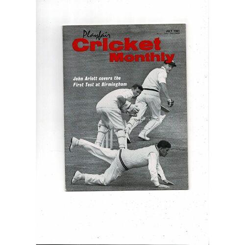 Playfair Cricket Monthly Magazine - July 1961