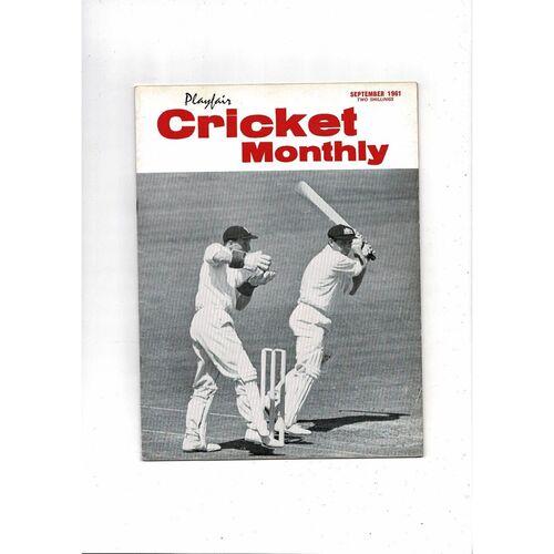 Playfair Cricket Monthly Magazine - Sept 1961