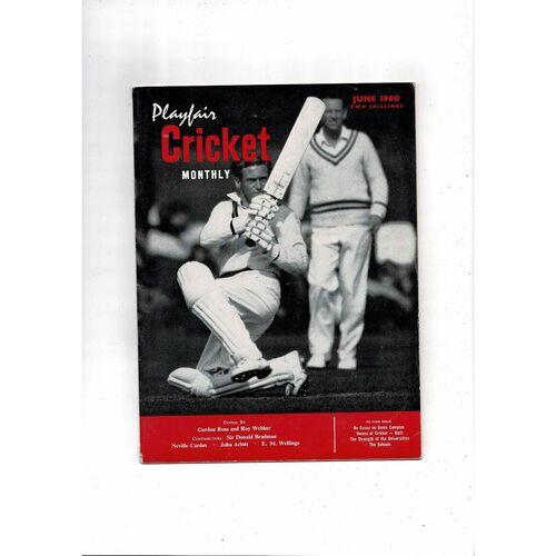 Playfair Cricket Monthly Magazine - June 1960