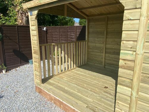 #003 16x8 Apex Shed with Hot Tub Area