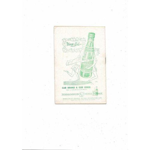 1955 Republic of Ireland v Holland Football Programme