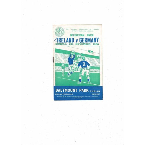 1956 Republic of Ireland v Germany Football Programme