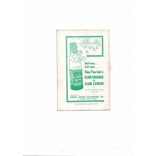 1957 Republic of Ireland v England Football Programme