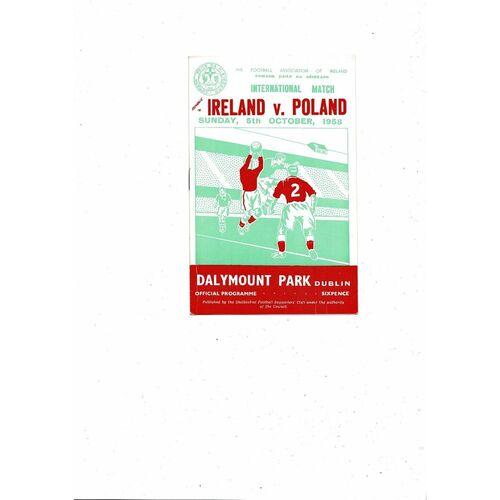 1958 Republic of Ireland v Poland Football Programme