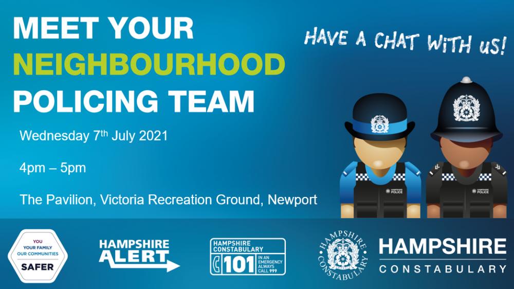 Meet Your Neighbourhood Policing Team - 4th August 2021