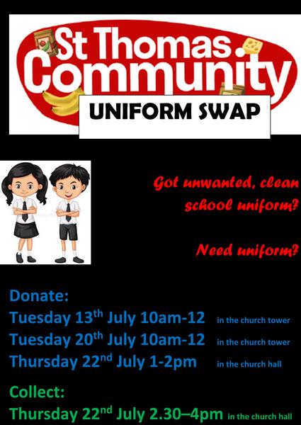 Uniform Swap dates announced!