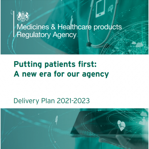 """""""We intend to ensure the UK becomes an even greater place to develop, manufacture and supply products; and that we have continued access to safe new medical products."""""""