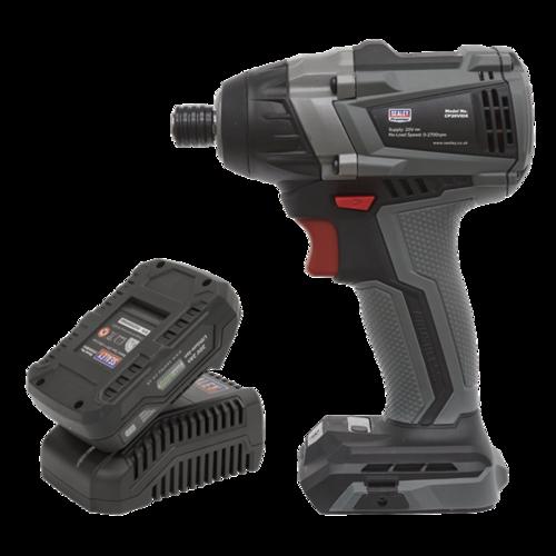 "Brushless Impact Driver Kit 1/4"" Hex 20V 2Ah - CP20VIDXKIT1 - Sealey"