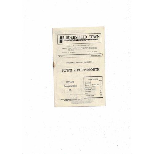 1946/47 Huddersfield Town v Portsmouth Football Programme