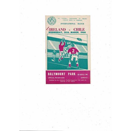 1960 Republic of Ireland v Chile Football Programme