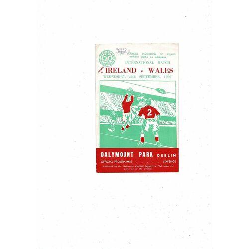 1960 Republic of Ireland v Wales Football Programme