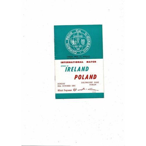1964 Republic of Ireland v Poland Football Programme