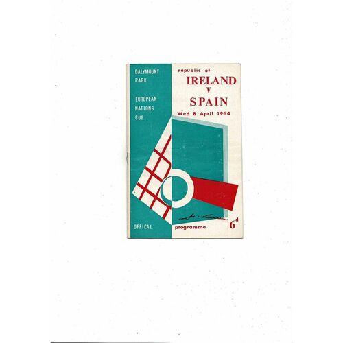 1964 Republic of Ireland v Spain Football Programme