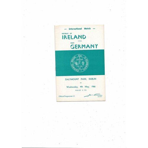 1966 Republic of Ireland v West Germany Football Programme