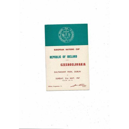 1967 Republic of Ireland v Czechoslovakia Football Programme
