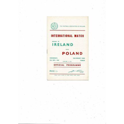 1968 Republic of Ireland v Poland Football Programme
